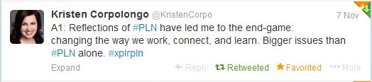@KirstenCorpo_PLN_reflectionstweet